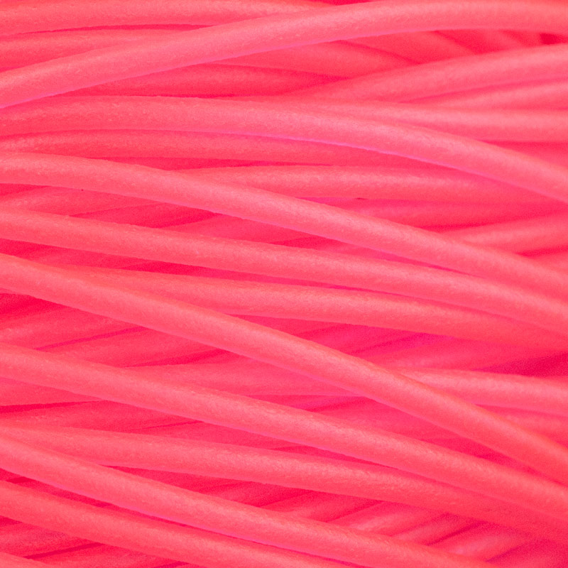 Hot Pink Soft Glass Hollow Flexible Tubing For Bead