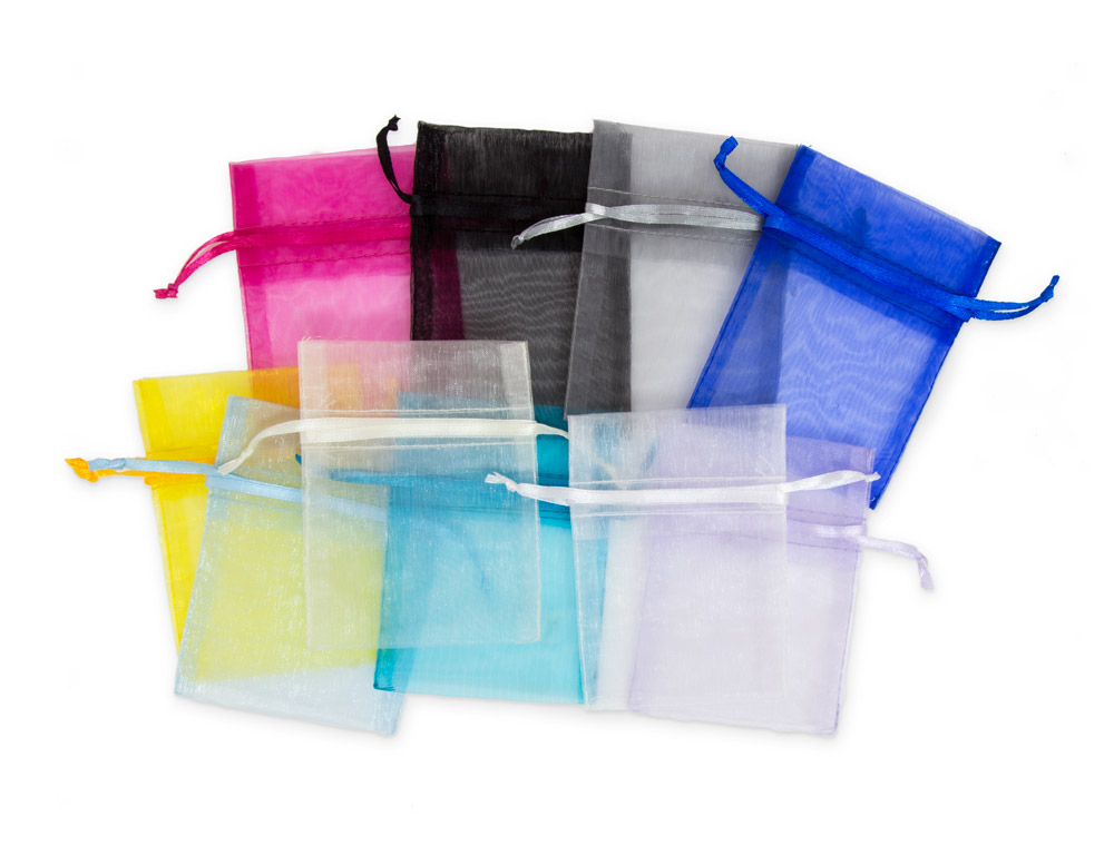 3x4 Medium Multi Color Organza Bag Assortment
