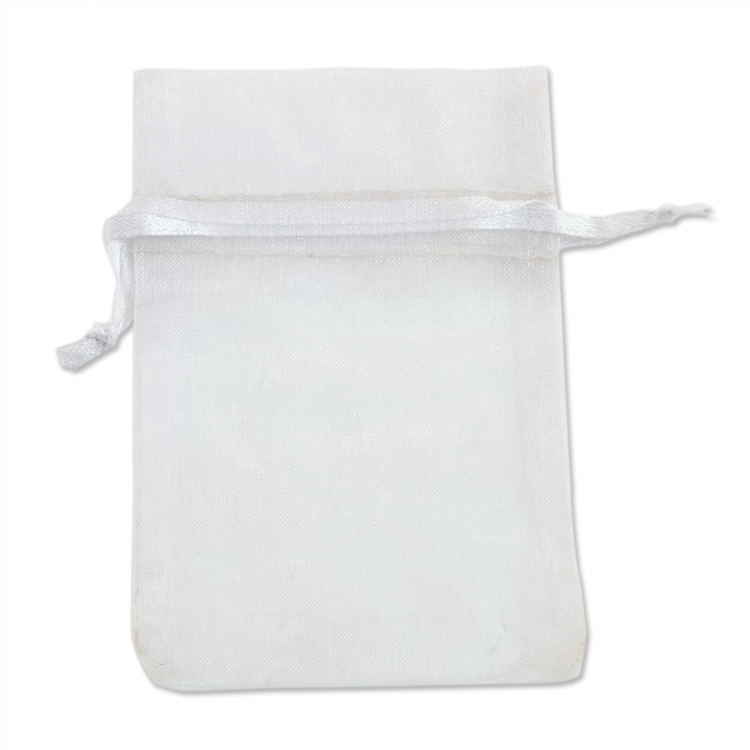 Organza Drawstring Bags 4x5 White