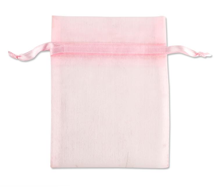 Organza Drawstring Bags 4x5 Pink