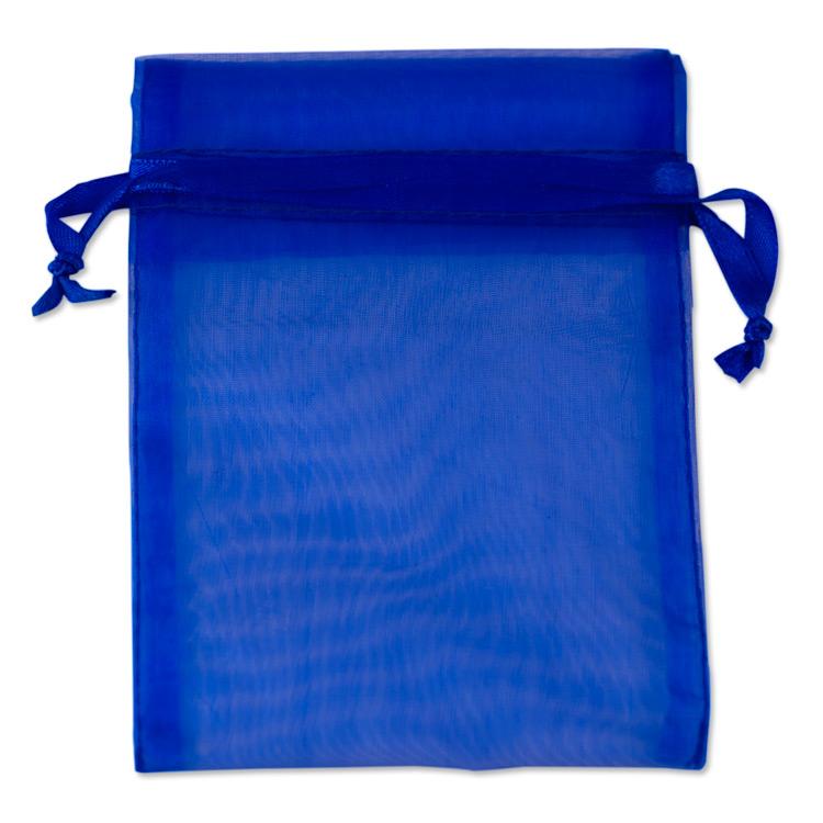 Organza Drawstring Bags 4x5 Royal Blue