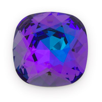 Swarovski 4470 18mm Crystal Heliotrope Cushion Cut Square Fancy Stone (1-Pc)
