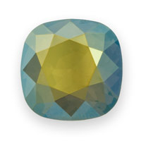 Swarovski 4470 18mm Crystal Iridescent Green Cushion Cut Square Fancy Stone (1-Pc)