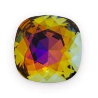 Swarovski 4470 18mm Crystal Volcano Cushion Cut Square Fancy Stone (1-Pc)