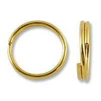 12mm Gold Plated Split Ring (10-Pcs)
