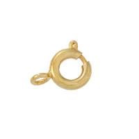 Spring Ring Clasp 6mm Gold Plated Open Ring (100-Pcs)