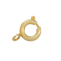 Spring Ring Clasp 7mm Gold Plated Open Ring (100-Pcs)