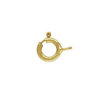 Spring Ring Clasp 5mm Gold Filled Closed Ring (1-Pc)