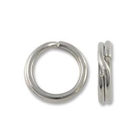9mm Silver Color Split Ring (10-Pcs)