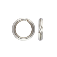 8mm Sterling Silver Split Ring (1-Pc)