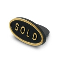 Black Sold Sign (10-Pcs)