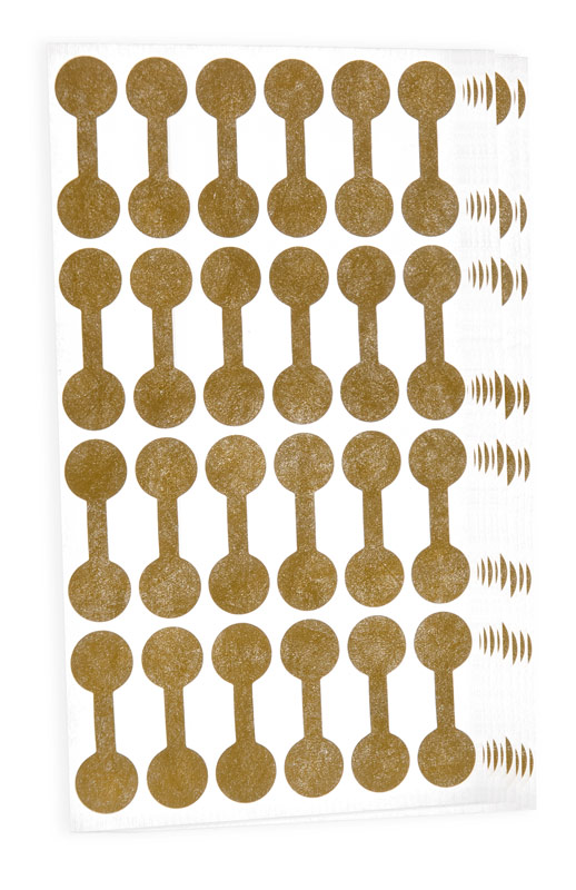 Jewelry Price Tags Round Gold