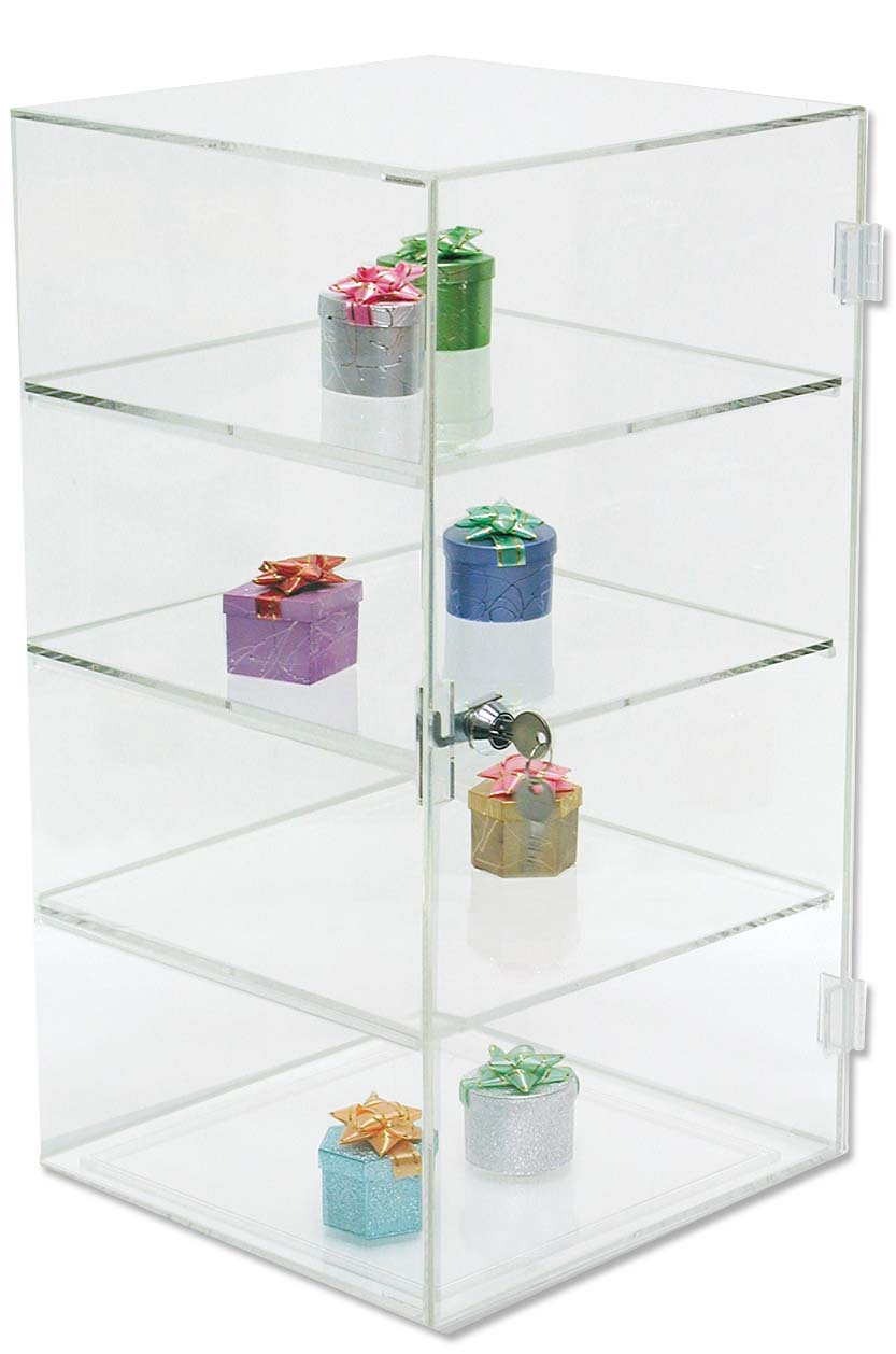 Acrylic Jewelry Display Case With 3 Shelves 18h
