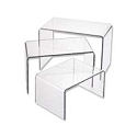 Acrylic Riser 3 Piece Jewelry Display Set (Large)