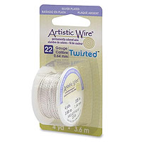 Artistic Wire 22ga Tarnish Resistant Silver Twisted (4 Yards)