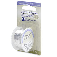 Artistic Wire 22ga Tarnish Resistant Silver (8 Yards)