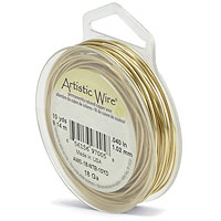 Artistic Wire 18ga Tarnish Resistant Brass (10 Yards)