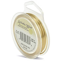 Artistic Wire 22ga Tarnish Resistant Brass (15 Yards)