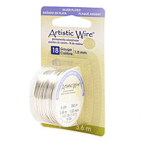 Artistic Wire 18ga Tarnish Resistant Silver (4 Yards)