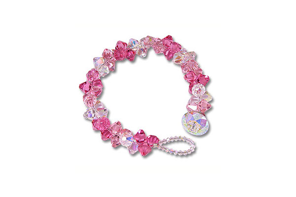 Pretty in pink bracelet project swarovski bicone pendant for Pretty project