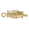 Barrel Clasp 10x5mm Gold Plated (100-Pcs)