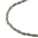 Rice Bead 4x2mm Base Metal Matte Silver Finish (24