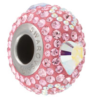 Swarovski Crystal BeCharmed 84372 14mm Light Rose Endless Love Bead (1-Pc)