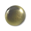 17x8mm Brushed Metal Satin Brass Plated Coin Bead (1-Pc)