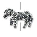 12x18mm Pewter Zebra Bead (1-Pc)