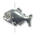 10x16mm Pewter Fish Bead (1-Pc)