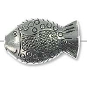 27x17mm Pewter Fish Bead (1-Pc)