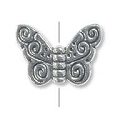 11x15mm Pewter Butterfly Bead (1-Pc)