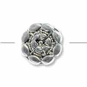 Dharma Wheel Round Bead 8mm Pewter Antique Silver Plated (1-Pc)