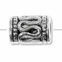10x5mm Pewter Snake Tube Bead (1-Pc)