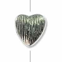 8mm Pewter Textured Heart Bead (1-Pc)