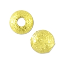 Round Frosted Bead 4mm Gold Plated (10-Pcs)