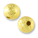 Frosted Bead 6mm Gold Plated Round (10-Pcs)