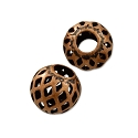 Round Filigree Bead 6mm Antique Copper Plated (10-Pcs)