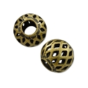 Round Filigree Bead 6mm Antique Brass Plated (10-Pcs)