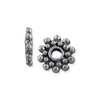 Bali-Style Spacer Bead 8.5x1.5mm Nickel Silver (4-Pcs)