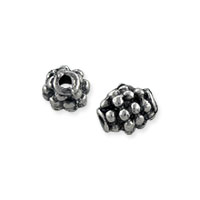 Beehive Bali-Style Beads 6.5x5mm Nickel Silver (4-Pcs)