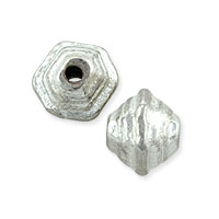 Step Bicone Bead 9x9mm Nickel Silver (3-Pcs)