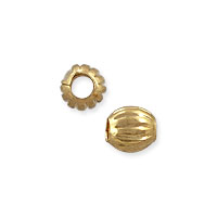 Corrugated Round Beads 2.5mm Gold Plated (10-Pcs)