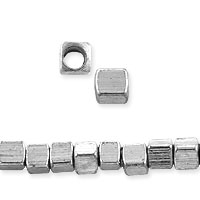 Square Heishi Beads 2.3mm Nickel Silver (20-Pcs)
