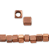 Square Heishi Beads 2.3mm Copper (20-Pcs)
