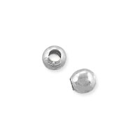 Round Bead 2.5mm Silver Plated (100-Pcs)