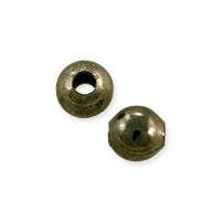 Bead 4mm Antique Brass Finish (10-Pcs)