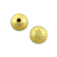 Frosted Round Bead 6mm Gold Plated (10-Pcs)
