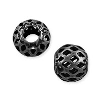 Filigree Round Bead 8mm Gunmetal Plated (10-Pcs)