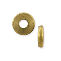 Flat Washer Bead 9x2.5mm Matte Brass Finish (5-Pcs)